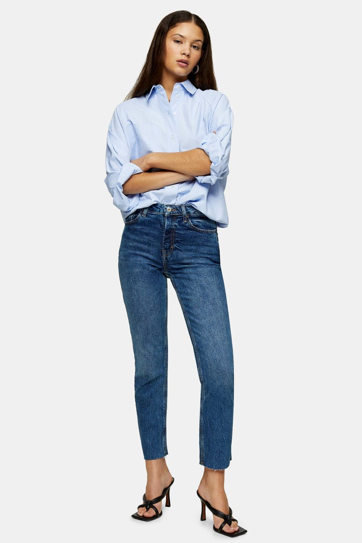 Considered Raw Hem Organic Cotton Straight Jeans