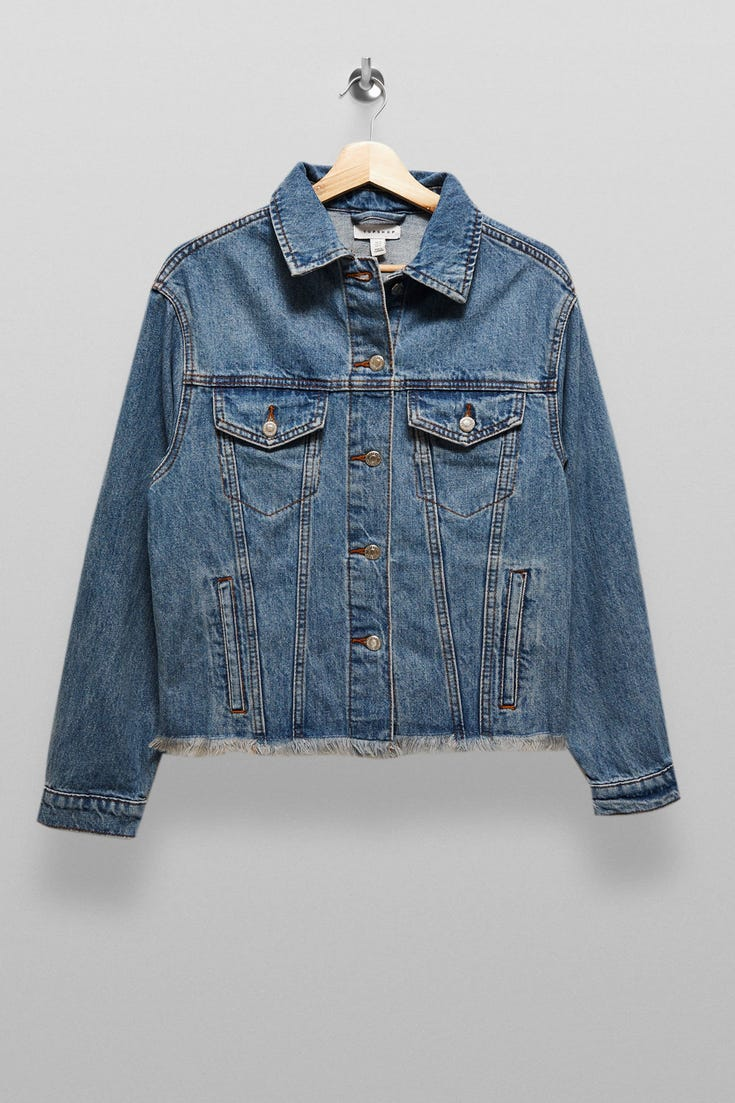 Raw Denim Oversized Jacket