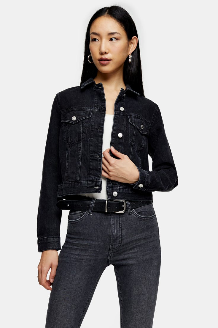 Slim Fit Washed Denim Jacket