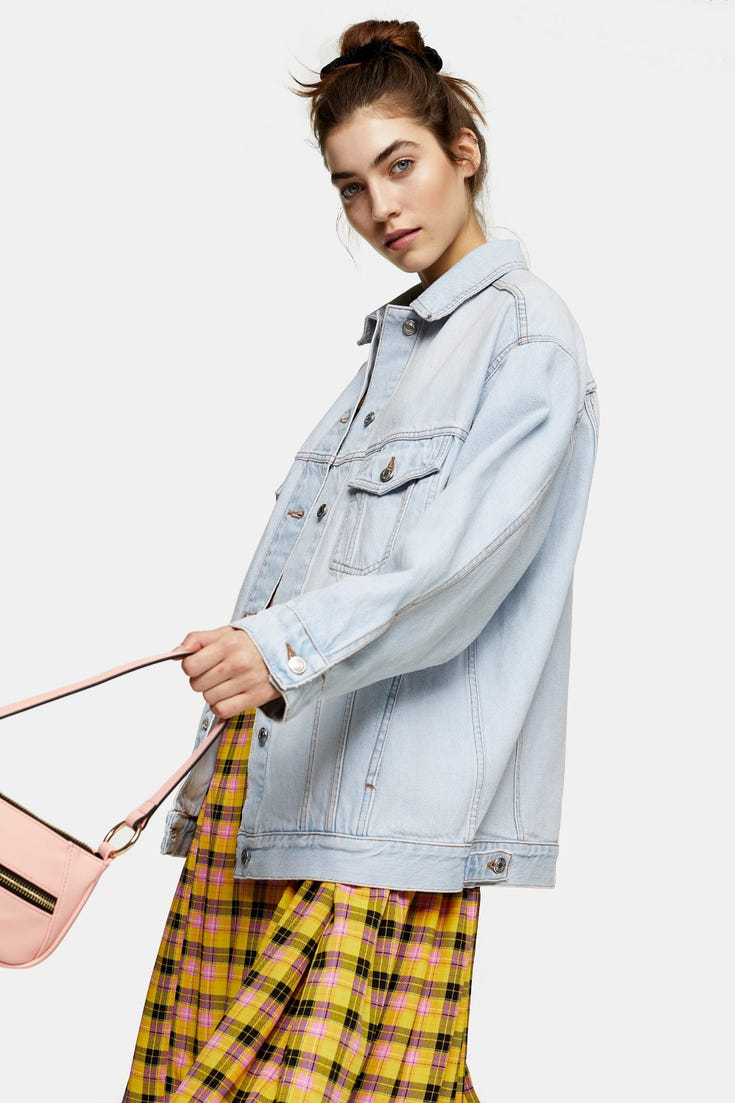 Bleach Denim Oversized Dad Jacket