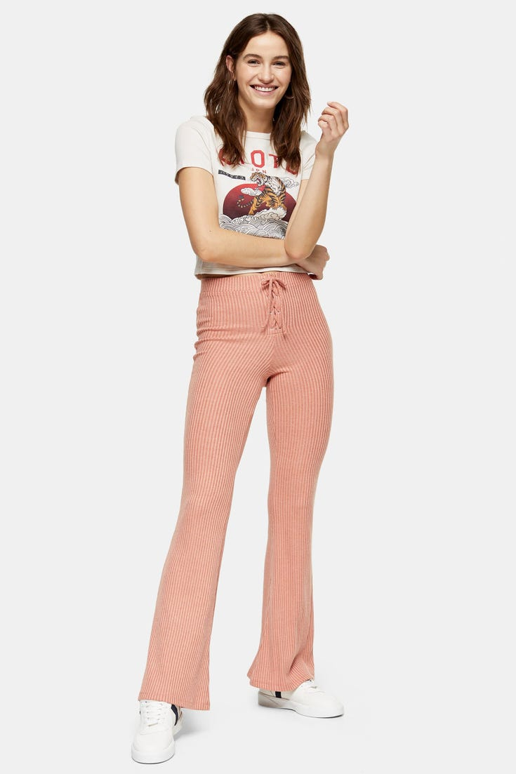 Lace Up Flare Trousers