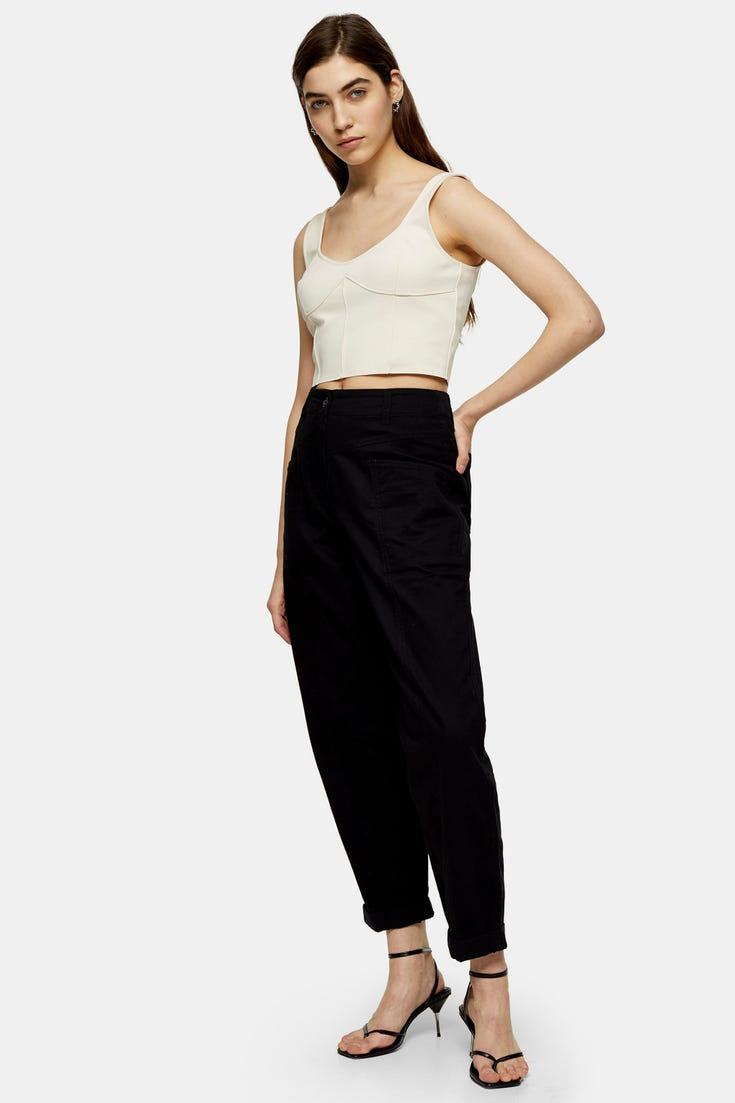80'S Style Tapered Trousers