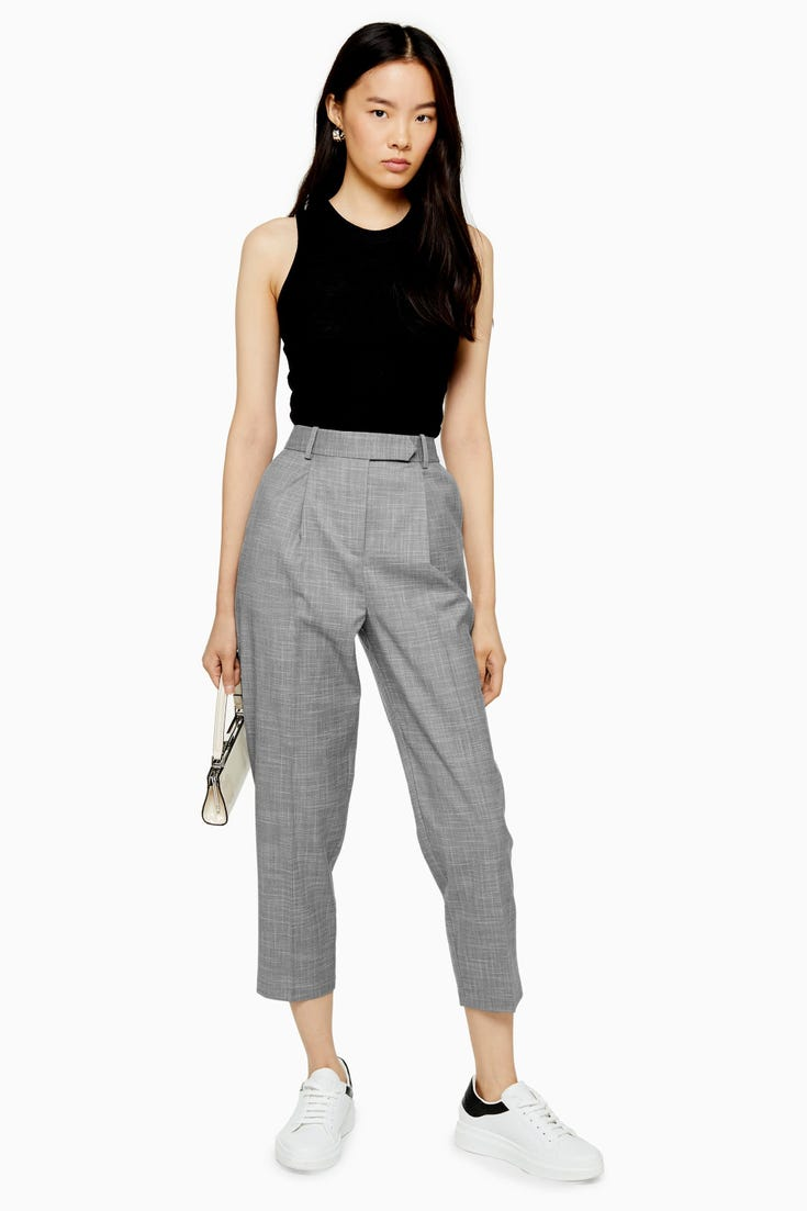 Pleat Tapered Trousers